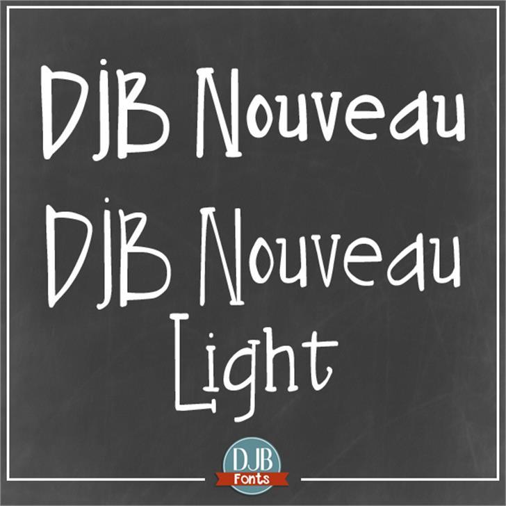 DJB Nouveau Font text typography