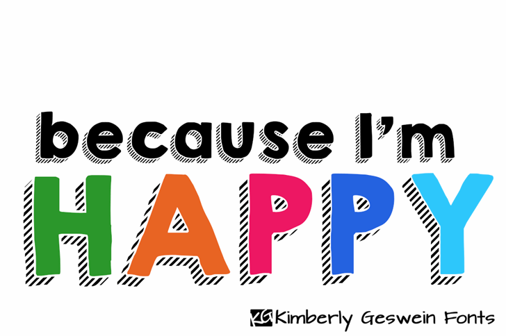 KG HAPPY Font design graphic