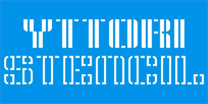 Yttori Stencil Font design