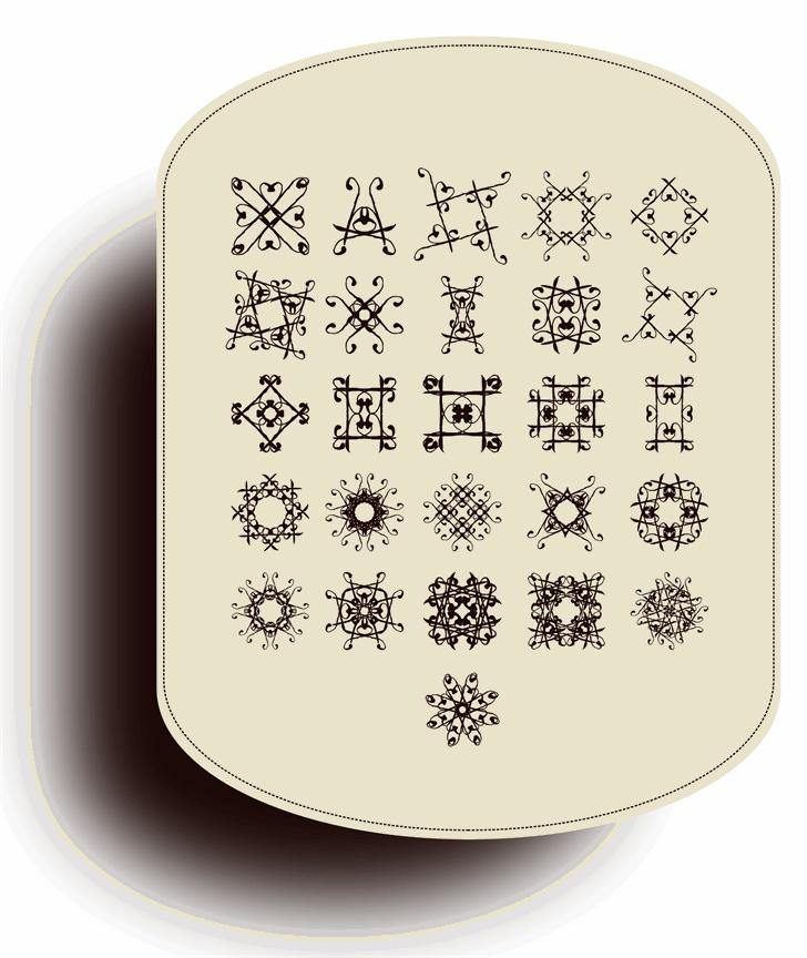SVGFont 1 Font pattern
