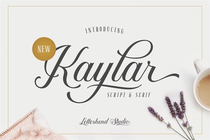 Kaylar DEMO Font design typography