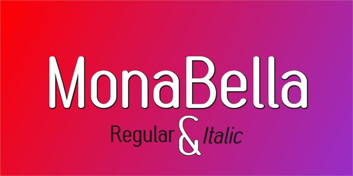 MonaBella Font design graphic