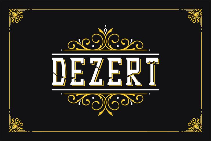Dezert Font design screenshot