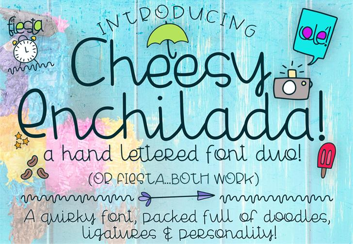 Cheesy Enchilada Font handwriting text