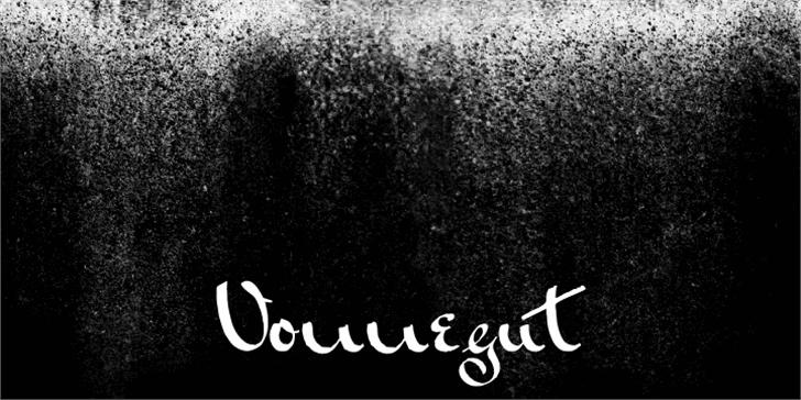 Vonnegut Font outdoor handwriting