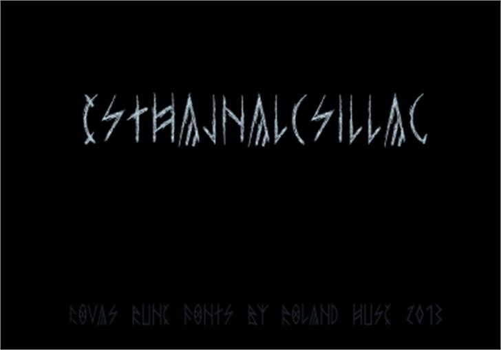 esthajnal Font handwriting text