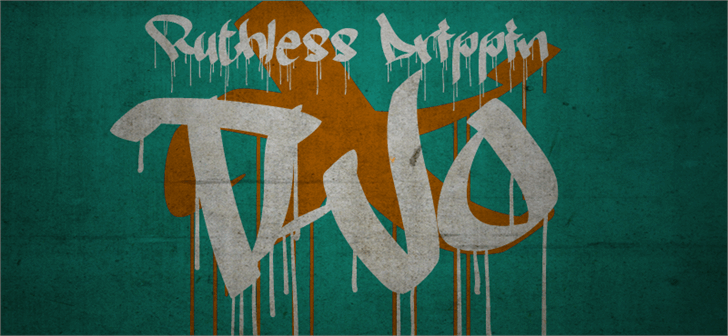 Ruthless Drippin TWO Font drawing painting