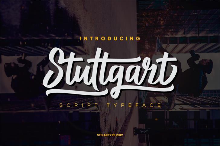 Stuttgart DEMO Font screenshot poster