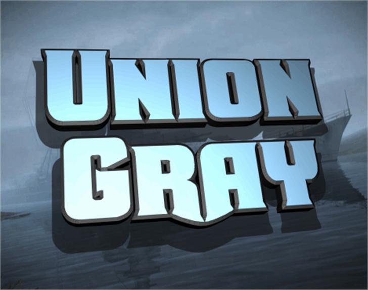 Union Gray Font screenshot dishware