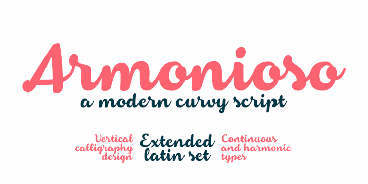 Armonioso font by Zetafonts