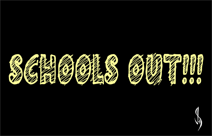 Schools Out!!! font by Jonathan S. Harris