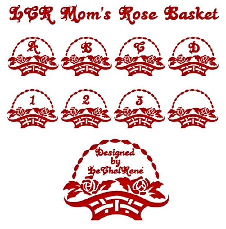 LCR Mom's Rose Basket Font cartoon design