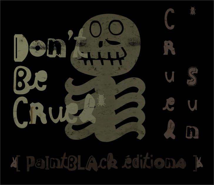 Cruel Sun Font handwriting cartoon