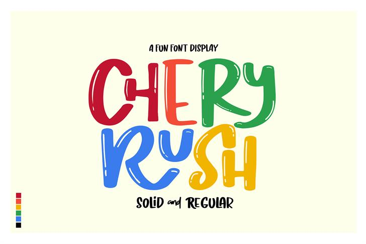 Chery Rush Demo font by D&K_Project