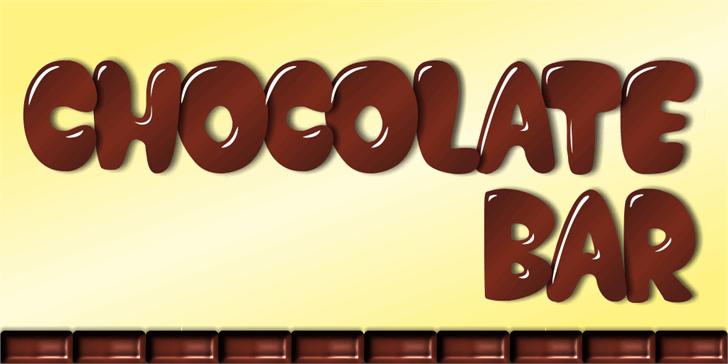 Chocolate Bar Demo font by studiotypo