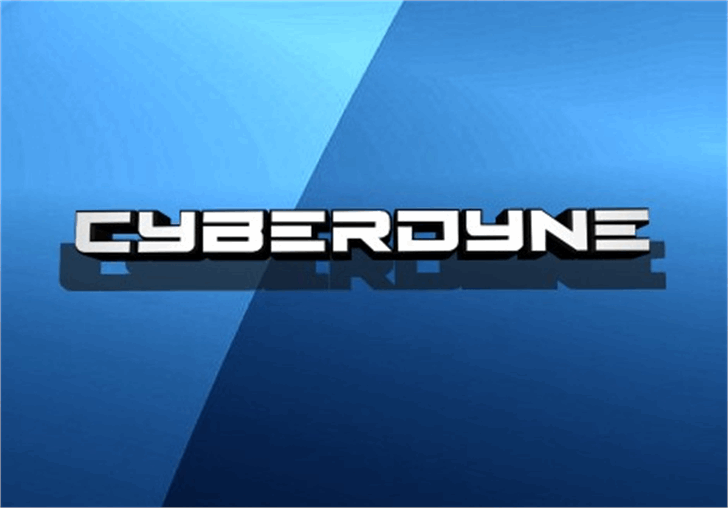Cyberdyne Font screenshot aqua
