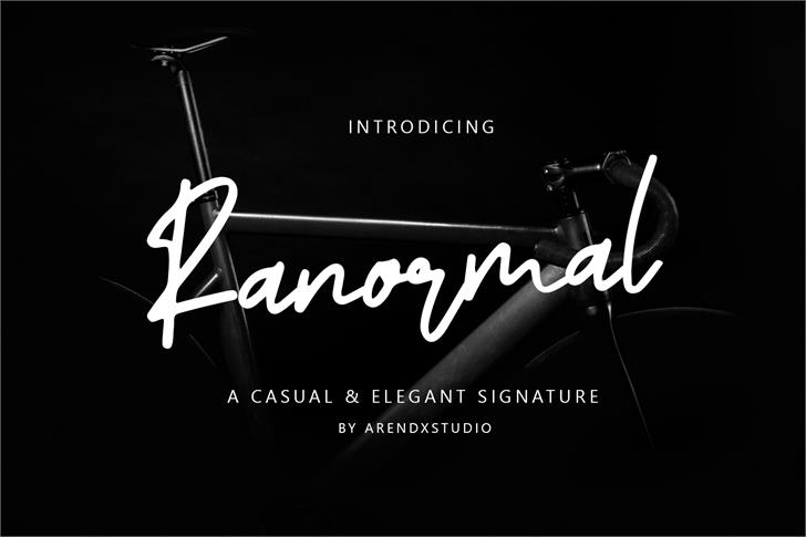 Ranormal Font poster