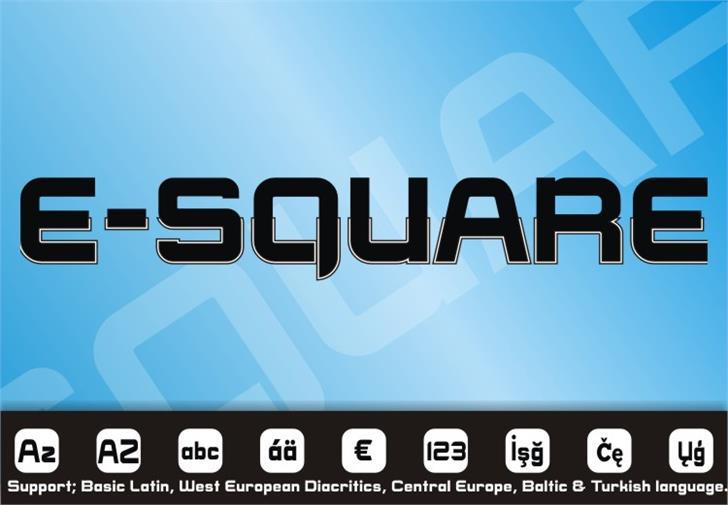 E-SQUARE Font screenshot graphic