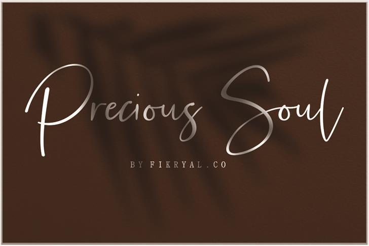 Precious Soul Font design typography