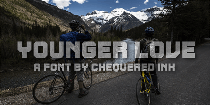 Younger Love Font outdoor sports equipment