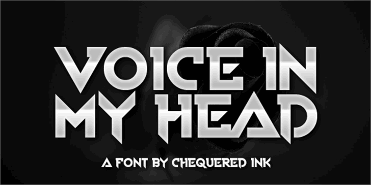 Voice In My Head Font screenshot poster