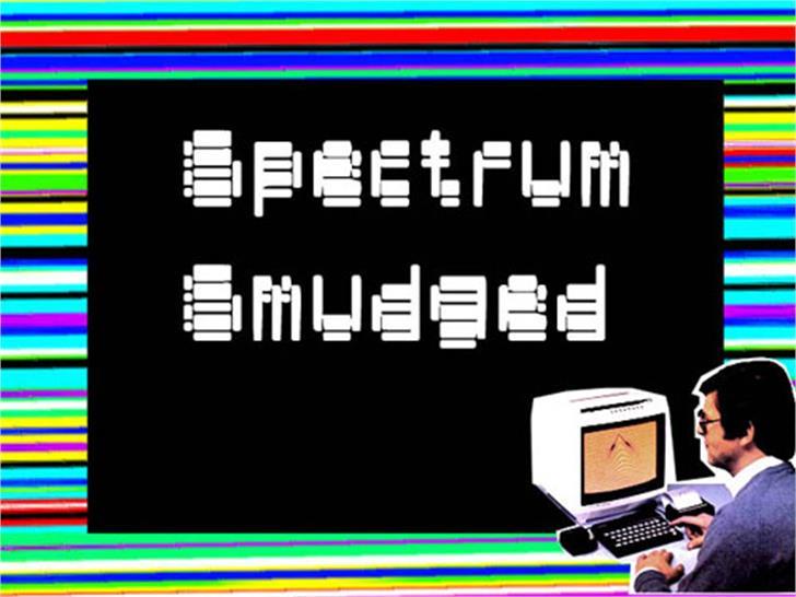 spectrum smudged Font text