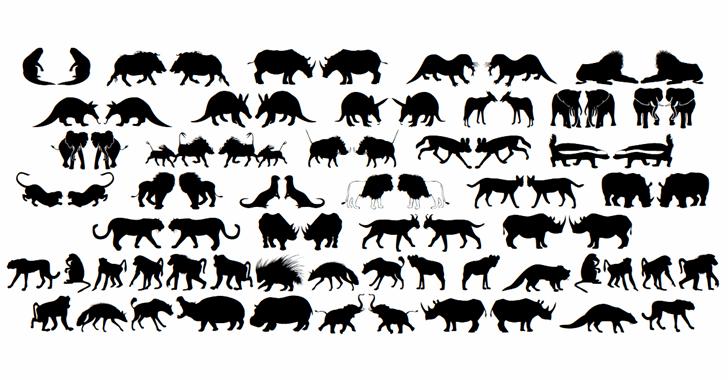 Afrika Wildlife B Mammals2 Font Letters Charmap