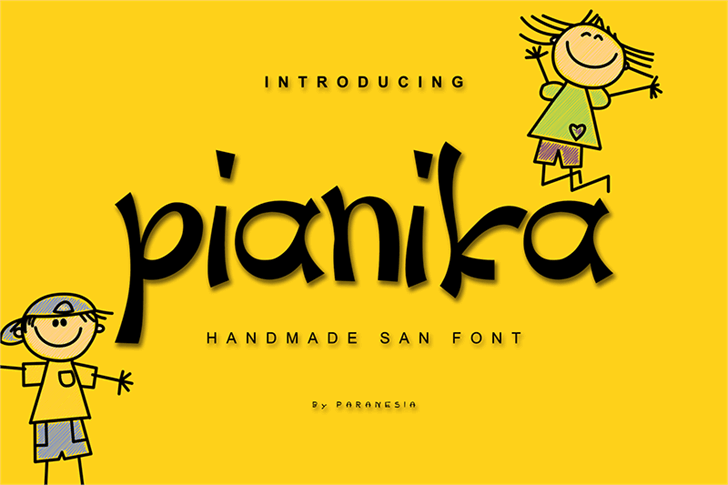 Pianika Font cartoon design