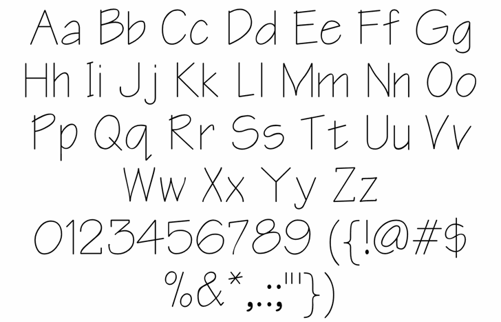 Architect Regular Font Letters Charmap