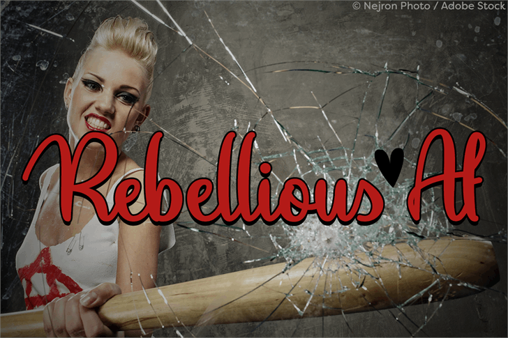 Rebellious Af Font poster handwriting
