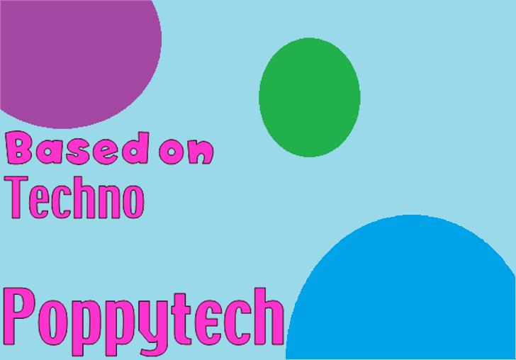 Poppytech Font screenshot design