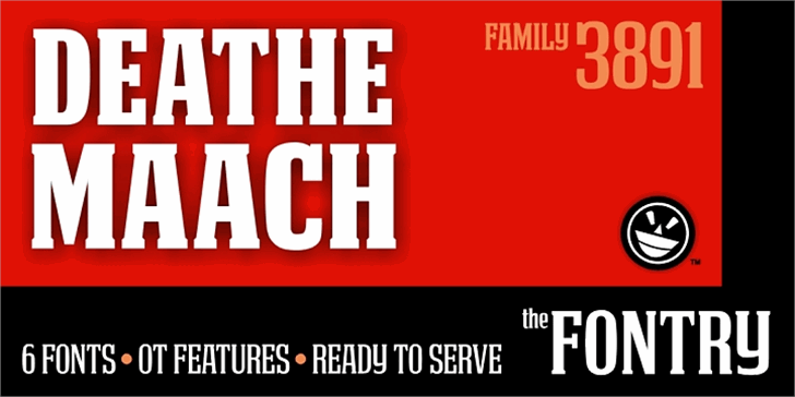 DEATHE MAACH NCV font by the Fontry
