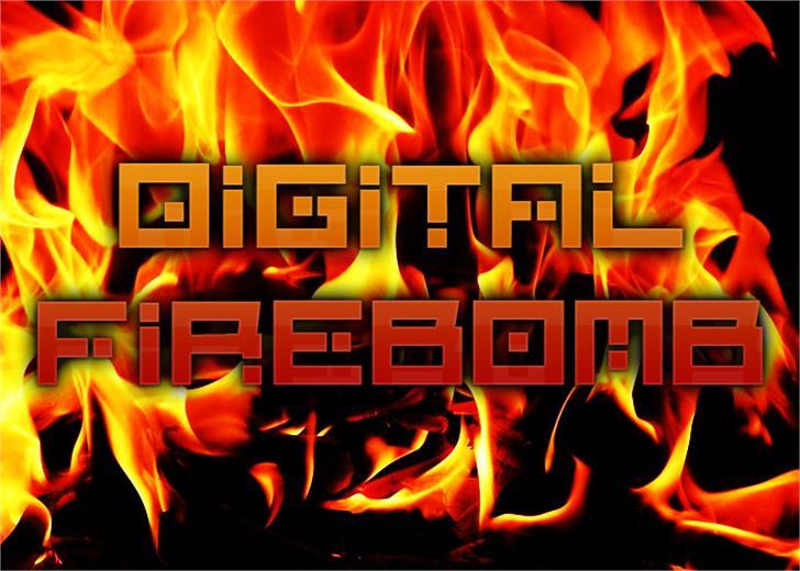 Digital Firebomb Font screenshot nature