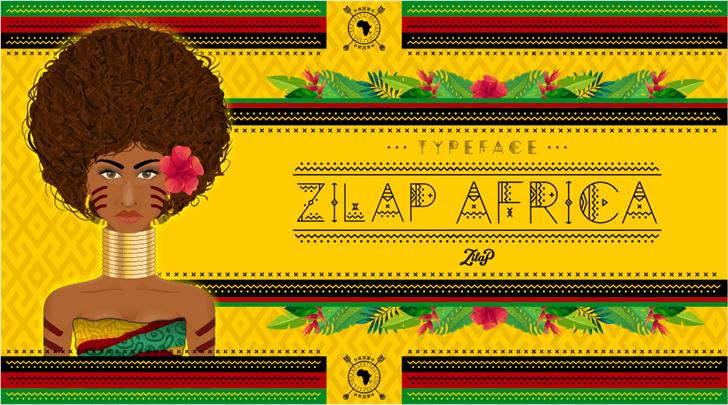 Zilap Africa Font cartoon screenshot