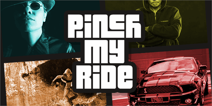 Pinch My Ride font by Chequered Ink