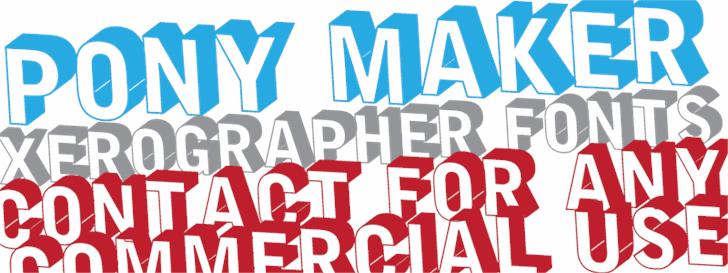 PonyMaker Font poster