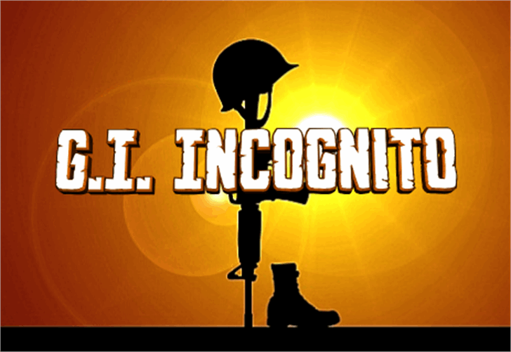 G.I. Incognito Font cartoon bird