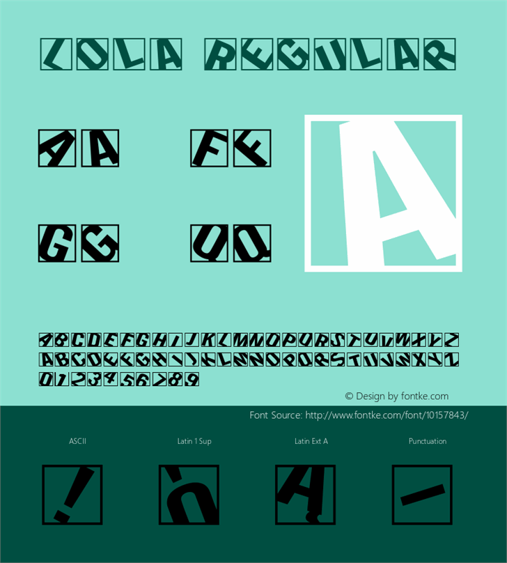 Lola font by Barmee