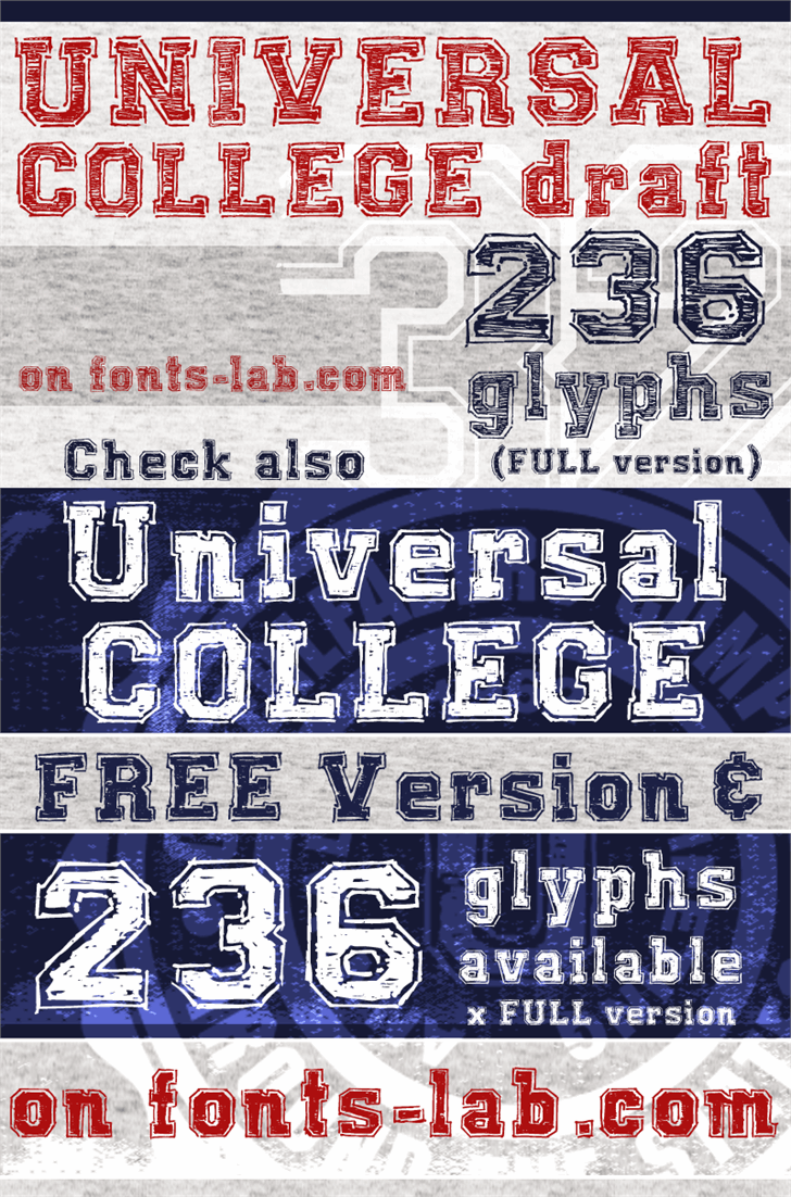 UNIVERSAL-COLLEGE-draft font by FontsCafe