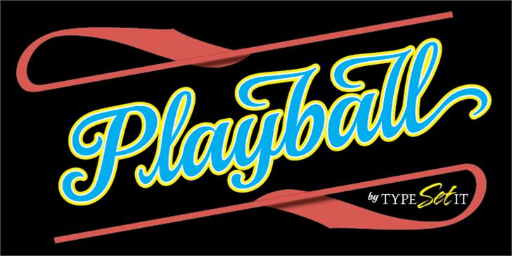 Playball Font cartoon design
