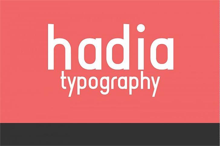 Hadia DEMO Font poster