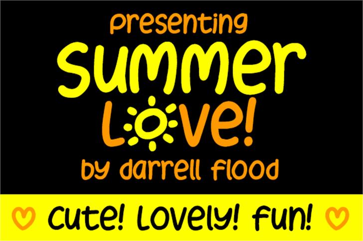 Summer Love Font poster screenshot
