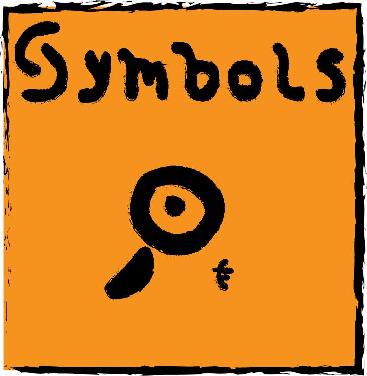 Symbols Font cartoon text