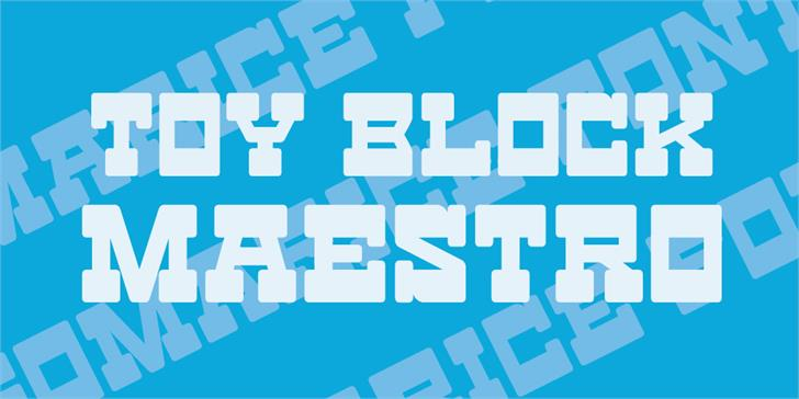 Toy Block Maestro Font design screenshot