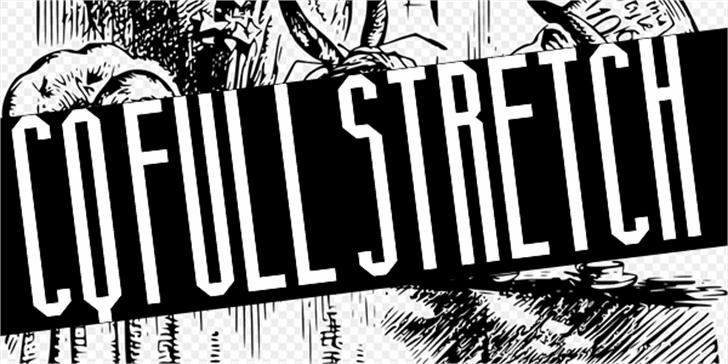 CQ Full Stretch Font cartoon book