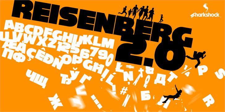 Reisenberg 2.0 Font poster cartoon