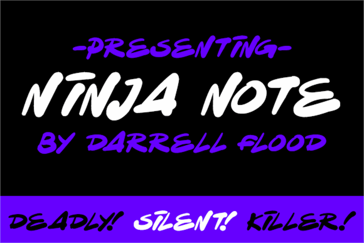 Ninja Note Font text handwriting