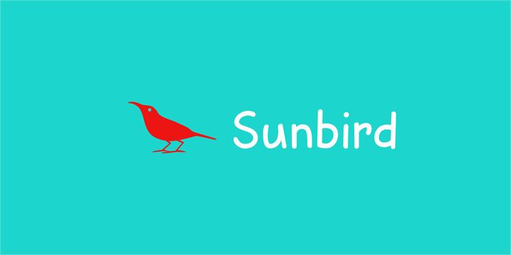 Sunbird DEMO Font bird illustration