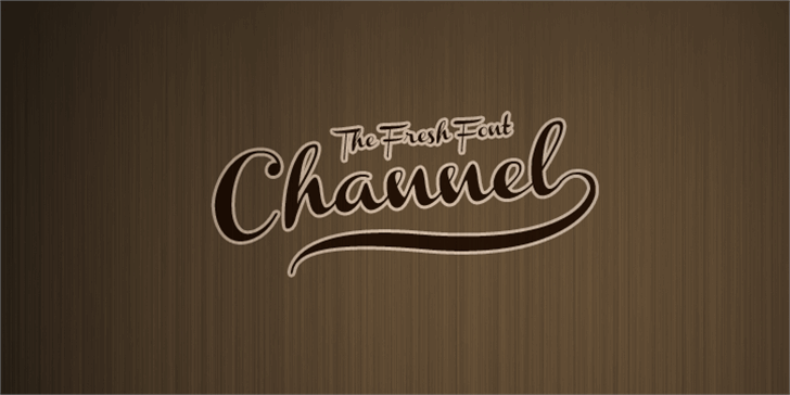 Channel Font handwriting typography