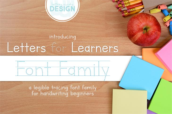 Letters for Learners Font design text